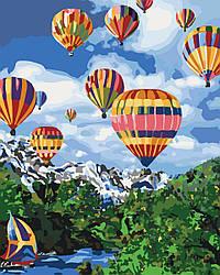 Раскраска для взрослых Покоряя небо (KHO2227) 40 х 50 см Идейка (Без коробки)
