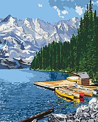 Картина по номерам Отдых у озера (KHO2223) 40 х 50 см Идейка (Без коробки)