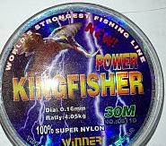 Волосінь KingFisher 0.12 (30м) світла