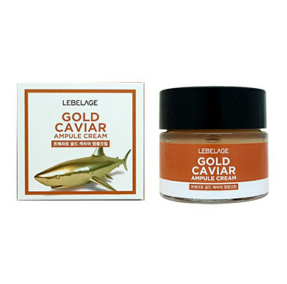 Омолаживающий крем с золотом и экстрактом икры LEBELAGE Ampule Cream Gold Caviar, 70ml