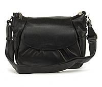 Стильная  женская мягкая сумка из натуральной кожи GALANTY art. 6068 Турция черная, фото 1