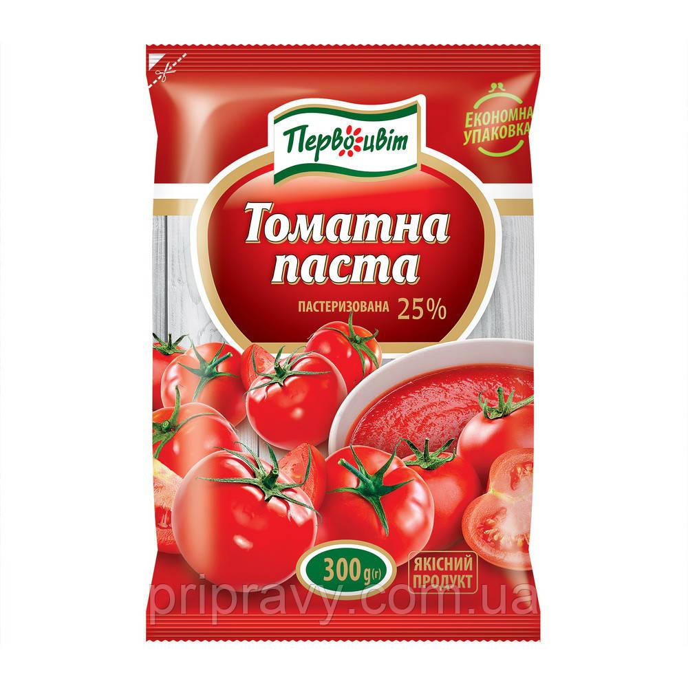 Томатная паста пастеризованная 25% ТМ Первоцвіт,300 г