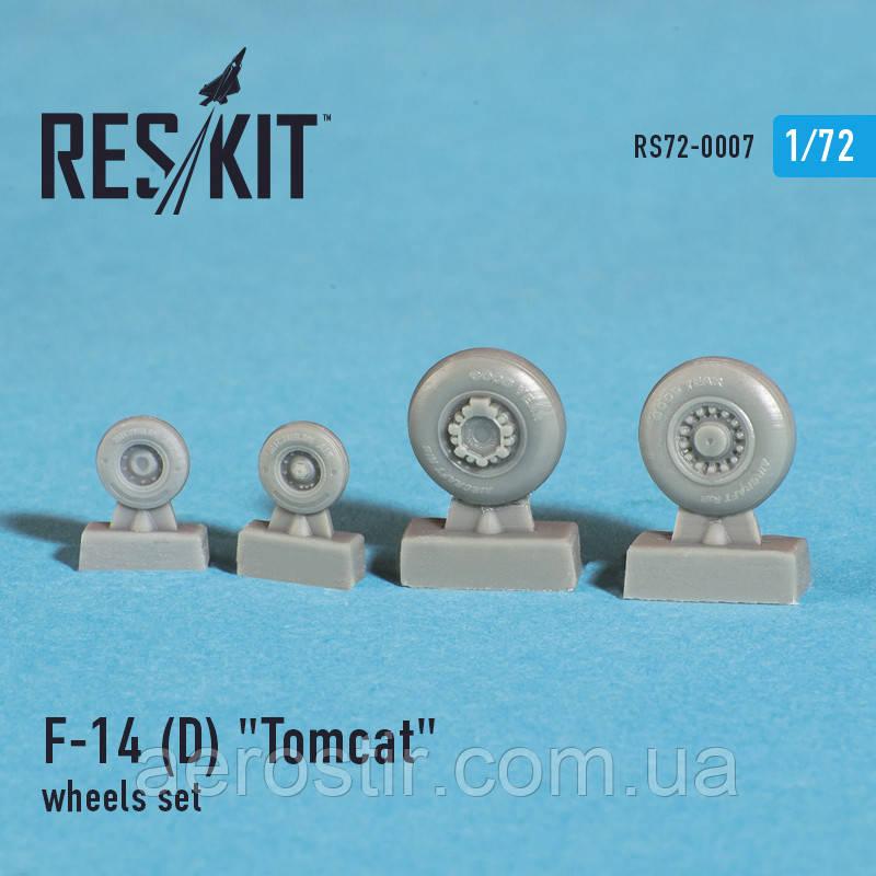 "Grumman F-14 (D) ""Tomcat"" wheels set 1/72  RES/KIT 72-0007"