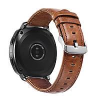 Кожаный ремешок для часов Samsung Gear Sport (SM-R600) - Light Brown