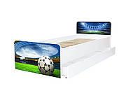 Кровать с ящиком Viorina-Deko BEVERLY 001 Зеленый с синим 80×190