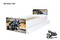 Кровать с ящиком Viorina-Deko BEVERLY 005 Бежевый с серым 80×190
