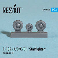 "Lockheed F-104 (A/B/C/D) ""Starfighter"" wheels set 1/72  RES/KIT 72-0008"