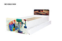 Кровать с ящиком Viorina-Deko BEVERLY 010 Желтый/Зеленый/Оранжевый 80×190