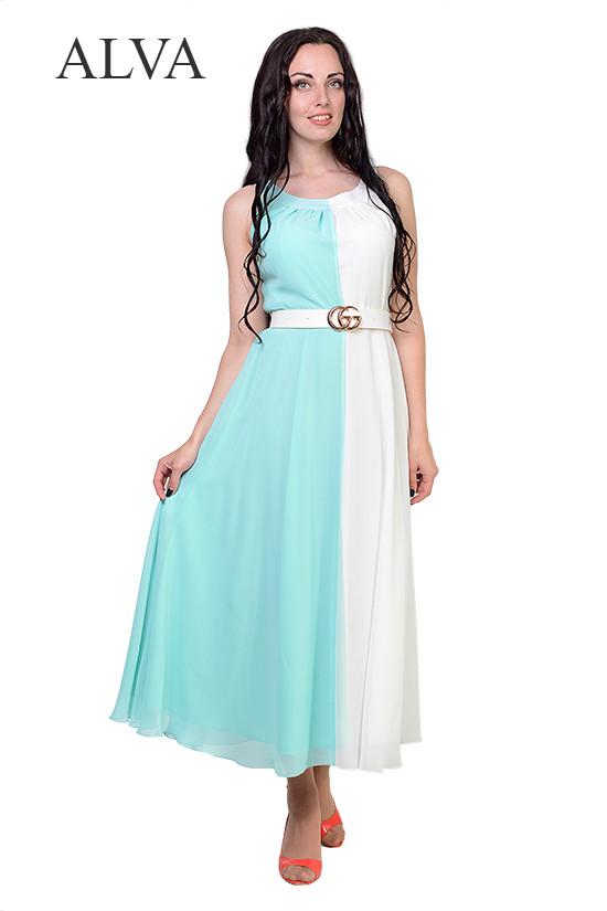 Модное нарядное шифоновое платье с пояском.Разные цвета.