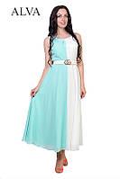 Модное нарядное шифоновое платье с пояском.Разные цвета., фото 1