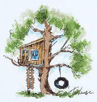 Набор для вышивания крестом PS-1952 Домик на дереве