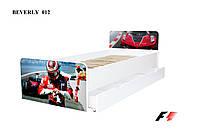 Кровать с ящиком Viorina-Deko BEVERLY 012 Красный с синим 80×190