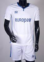 Футбольная форма Europaw (бело-синяя) 009, фото 1