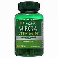 Мультивитамины, Mega Vita-Min™ Multivitamin Timed Release, Puritan's Pride, 100 таблеток, фото 1