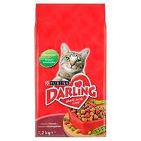 Корм для кішок Darling з м'ясом і овочами 1,2 кг.