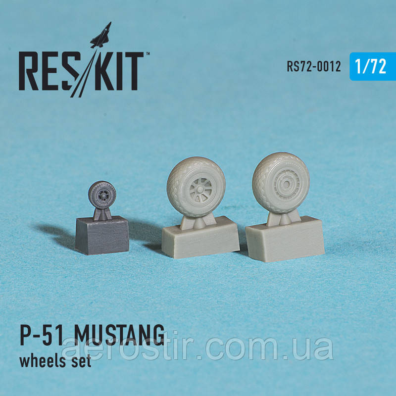 North American P-51 MUSTANG wheels set 1/72  RES/KIT 72-0012