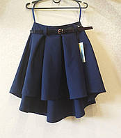 Асимметричная школьная юбка (удлиненная сзади), фото 1