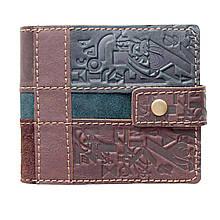 Кошелек мужской из комбинированной кожи с карманом для монет (Guk)