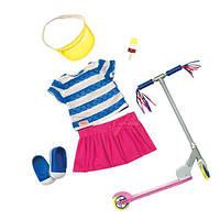 Набор одежды для кукол Our Generation  Deluxe  с самокатом и аксесуарами BD30200Z