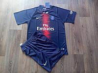 Детская футбольная форма ПСЖ синяя (сезон 2018-2019) , фото 1