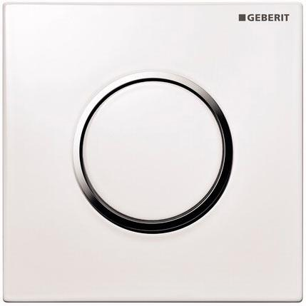 Geberit HyTouch ручной пневмопривод смыва для писсуара «Sigma10», белый/хром глянцец/белый