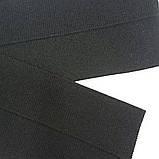 Довяз трикотажный чёрный. Длина 130 см, ширина 17,5 см., фото 2