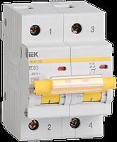 Автоматический выключатель ВА 47-100 2Р 50А 10 кА С IEК, фото 1