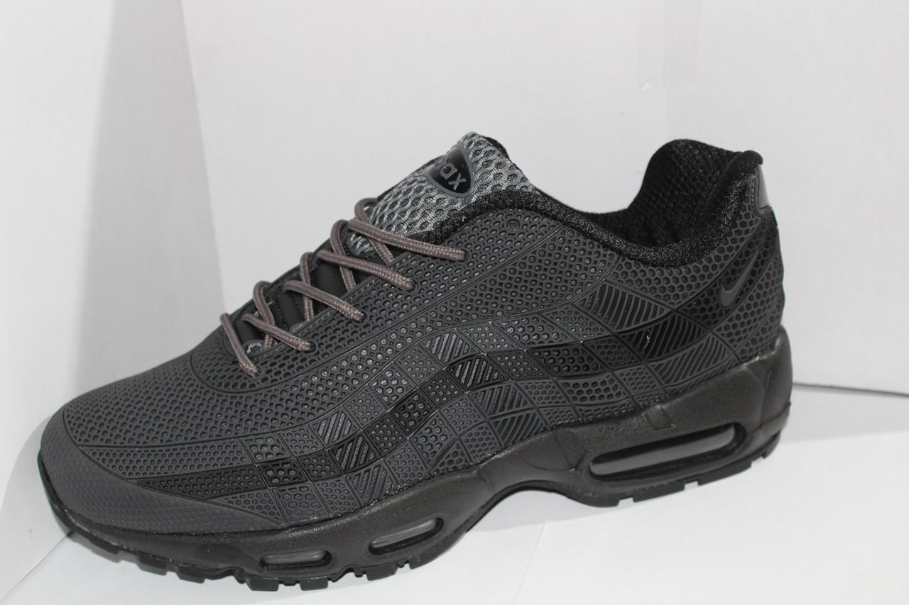 617a4c306570 Мужские кроссовки Nike AirMax на шнуровке со вставками на шнурке оригинал  Чёрный, 41-45