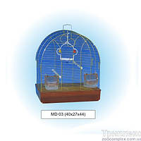 Tesoro (Тесоро) MD03 клетка для птиц (40х27х44см), цинк.