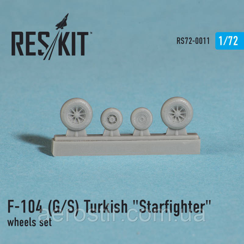 "Lockheed F-104 (G/S) Turkish ""Starfighter"" wheels set 1/72  RES/KIT 72-0011"