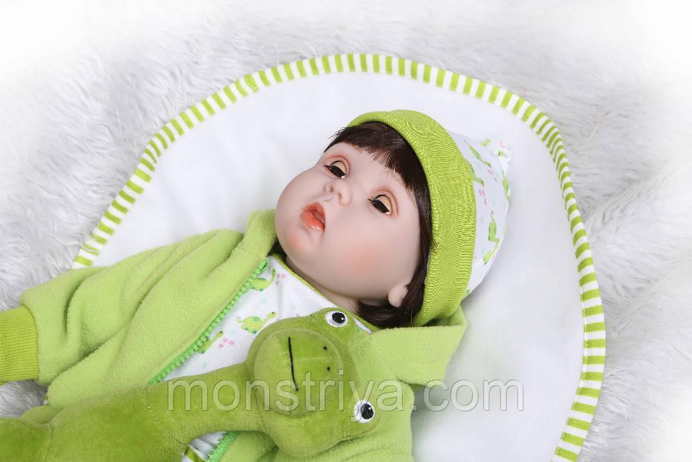 Кукла Реборн. Пупс кукла Reborn 53 см. Закрываются глаза