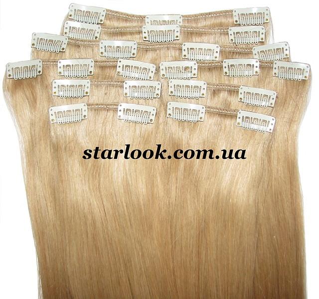 Набор натуральных волос на клипсах 70 см. Оттенок №23. Масса: 150 грамм.