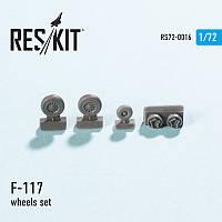 Lockheed F-117 wheels set 1/72 RES/KIT 72-0016