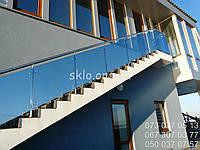 Ограждения стеклянные для лестницы,перила из стекла