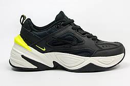 Женские кроссовки Nike M2K Tekno Black/White. Живое фото (Топ реплика ААА+)