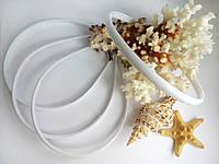 Ободок пластиковый 0,8 см белый, фото 1