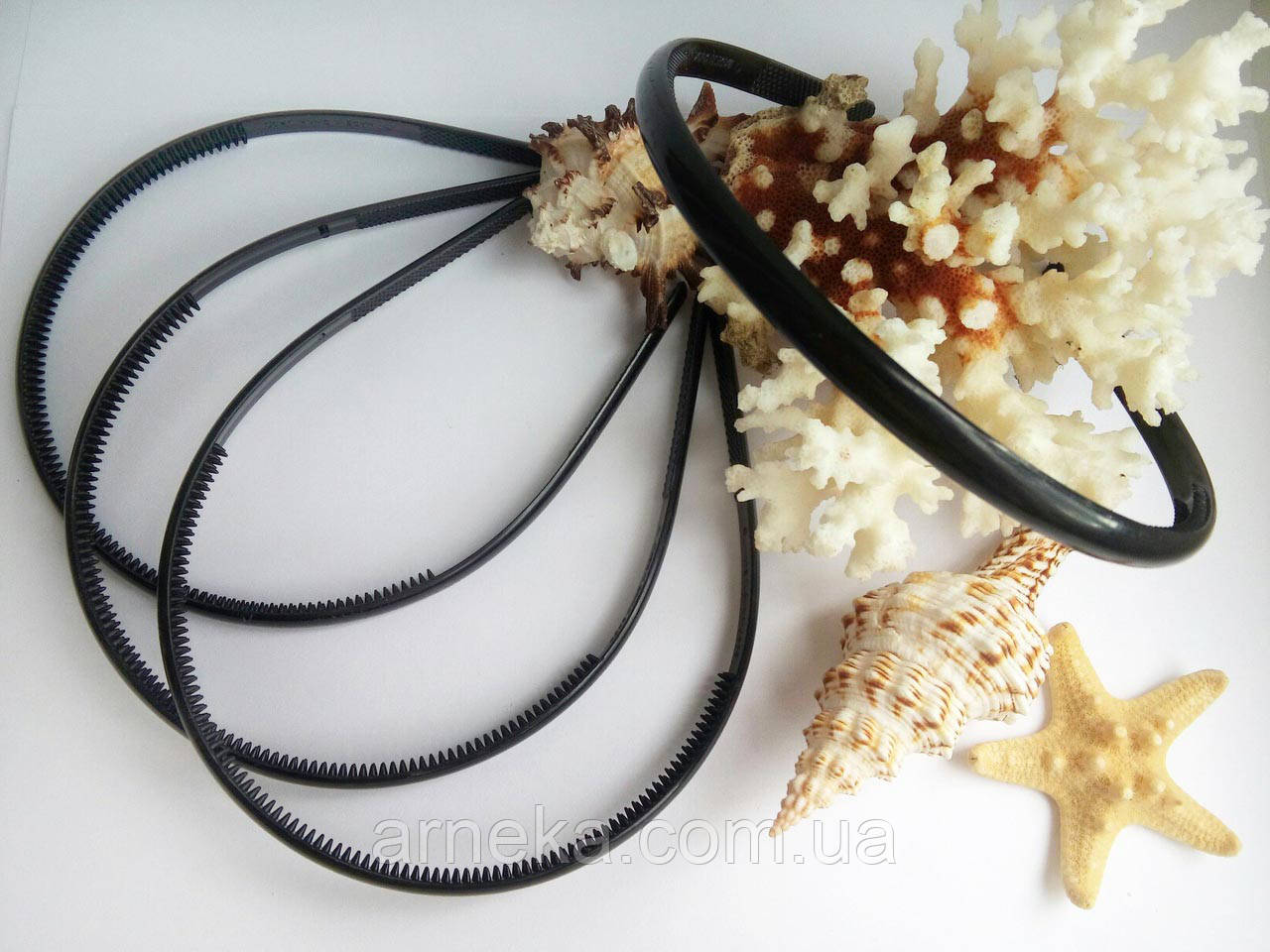 Ободок пластиковый 0,8 см черный