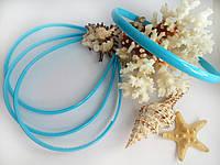 Ободок пластиковый 0,8 см голубой