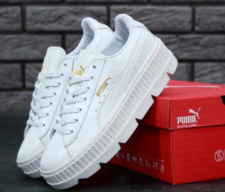 Кроссовки Puma x Fenty Cleated Creeper Platform All White женские -  Интернет-магазин «Reverie 0bf567bad26e5
