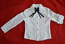 Детская блуза-трансформер белая для девочки (Польша), фото 2