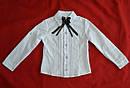 Детская блуза-трансформер белая для девочки (Польша), фото 3