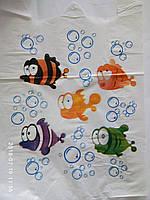 "Пакет майка с рисунком ""Рыбки"" 30х55 100шт."