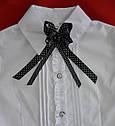 Детская блуза-трансформер белая для девочки (Польша), фото 4