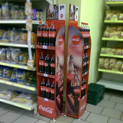 Стенд рекламный для воды Coca Cola