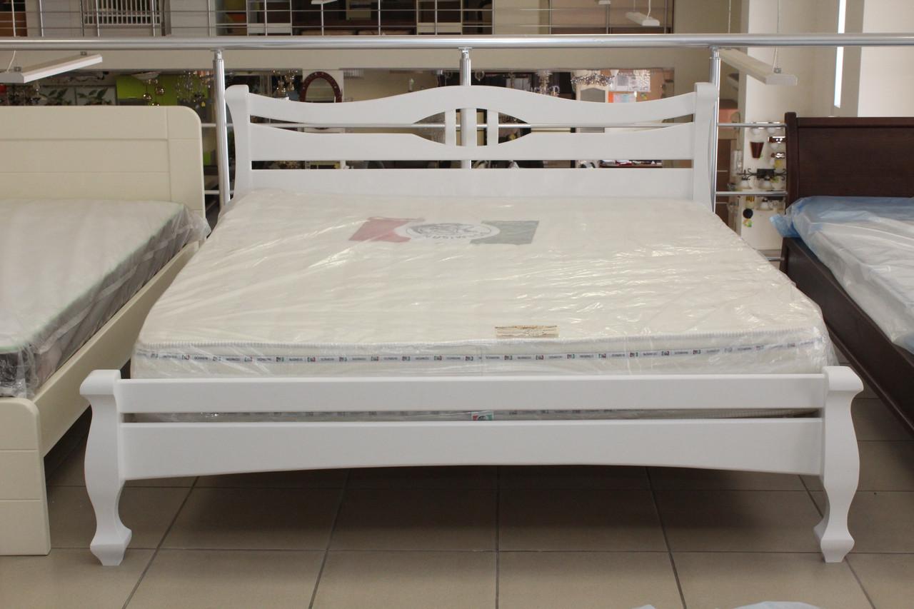 Кровать деревянная белая