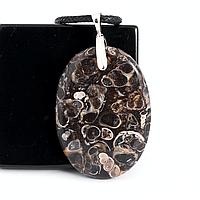 Яшма черепаховая Turtella Jasper, серебро 925, кулон, 834КЛЯ