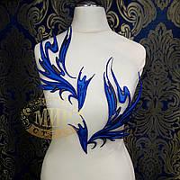 Термоклеевая аппликация, цвет Sapphire, размер 29х17см, 1 пара