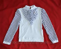 Блуза белая с горошками (Catherine, Польша)