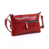 Кожаная женская сумка красный кайман, фото 1