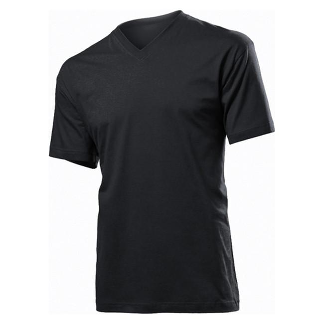 Футболка 'Stedman' 'Classic V-neck Men' Black Opal